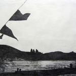 R. bei Bonn, Graphitzeichnung auf Papier, 60,5cm x 84,5cm, 2008
