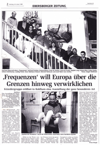 """""""Frequenzen will Europa über die Grenzen hinweg verwirklichen""""  von Franz Köppl"""