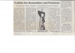 """""""Vorliebe fürs Konstruktive und Puristische"""" von Reinhard Müller-Mehlis"""